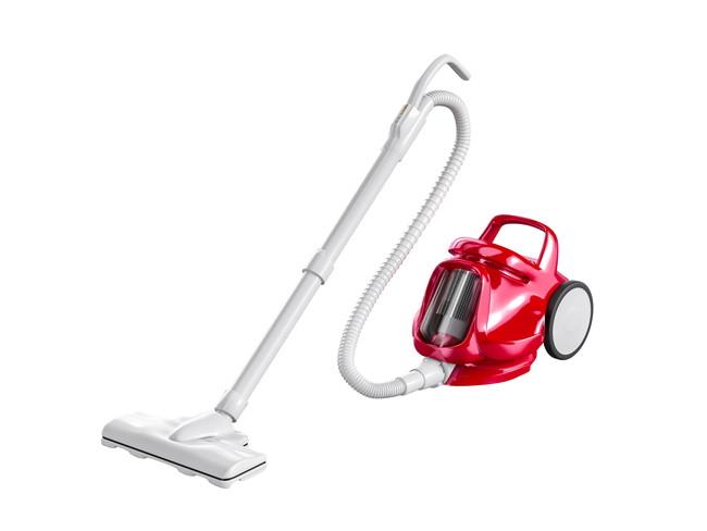 赤いサイクロン掃除機