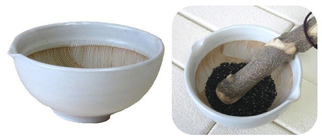 波紋丸すり鉢(白マット)