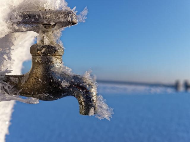 凍結した蛇口