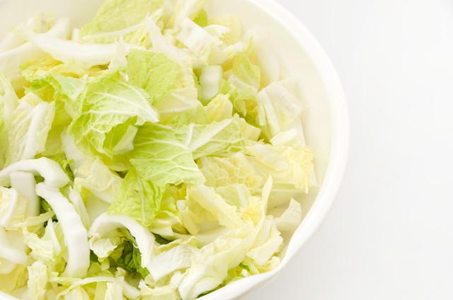 白菜のざく切り