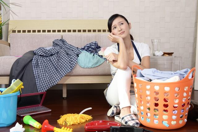 家事に悩む女性