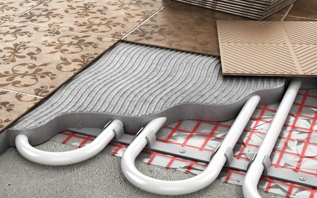 床暖房の内部