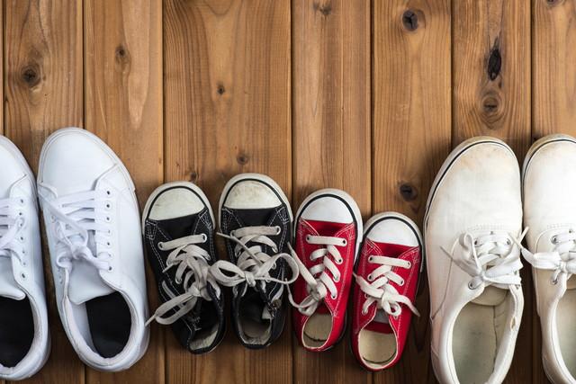 家族の運動靴
