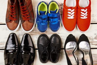 沢山の種類の靴