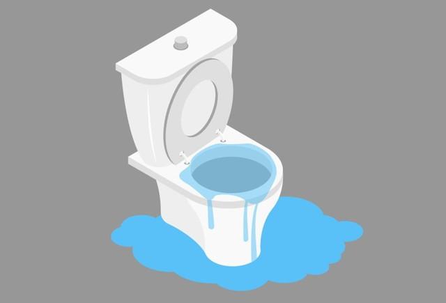 故障したトイレ