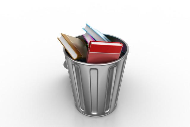 ゴミ箱の中の本