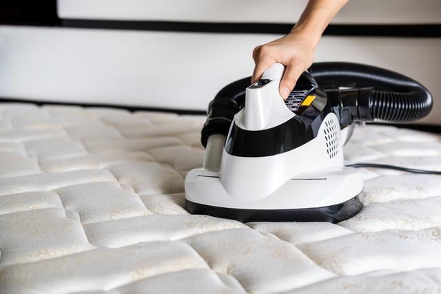 ダニ掃除機清掃用ベッドマットレス除塵装置