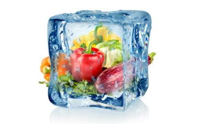 氷漬けの野菜