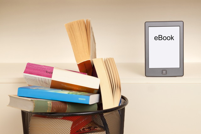 捨てられた本と電子書籍