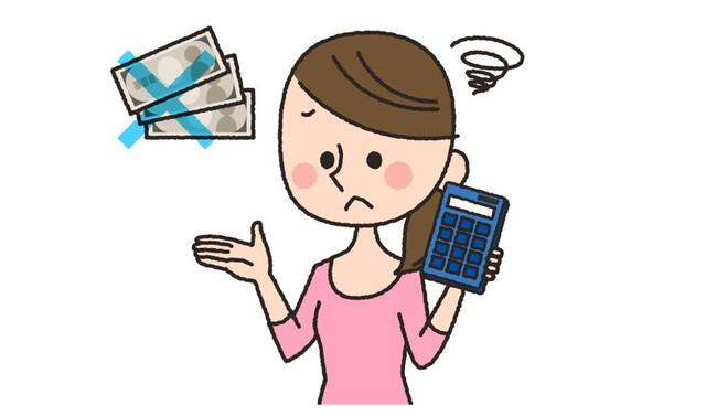 女性とお金と電卓