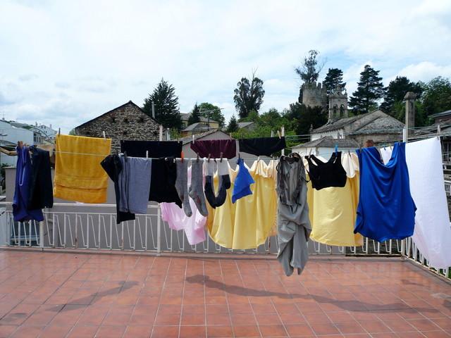 曇りの日の洗濯物