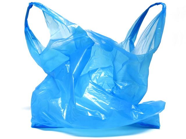 青いビニール袋