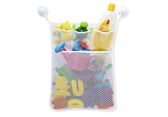 MyMei オモチャ収納袋 お風呂ハンモク 片付けネット メッシュバッグ吸盤式 子供玩具 学習収納 子供部屋収納