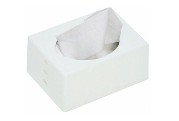 伊勢藤 ポケットティッシュケース ホワイト