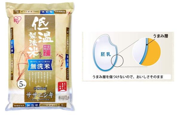 低温製法米 無洗米 宮城県産 ササニシキ