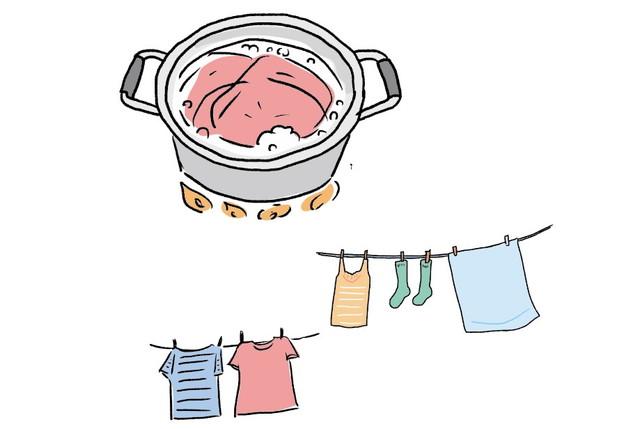 煮洗いイラスト